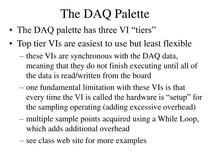 The DAQ Palette