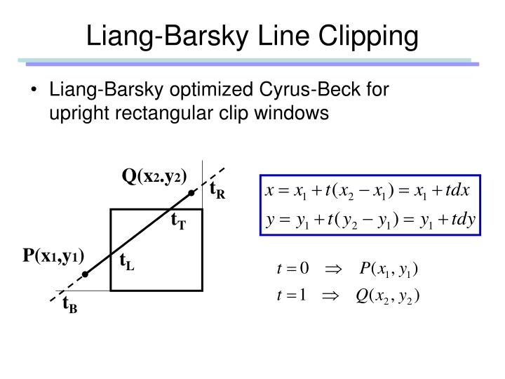 Liang-Barsky Line Clipping