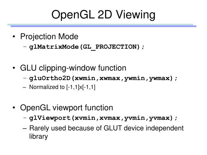 OpenGL 2D Viewing