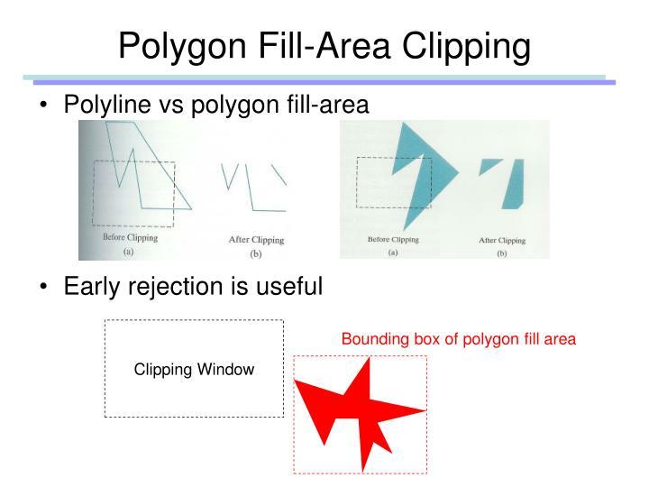 Polygon Fill-Area Clipping