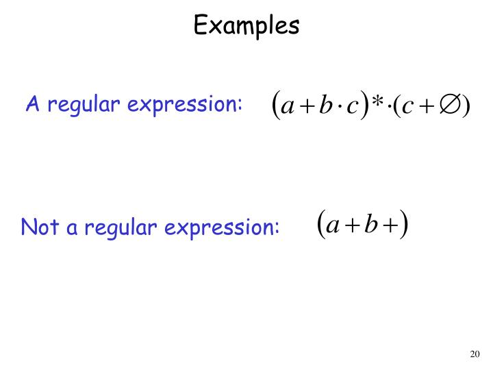 Not a regular expression: