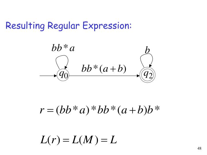 Resulting Regular Expression: