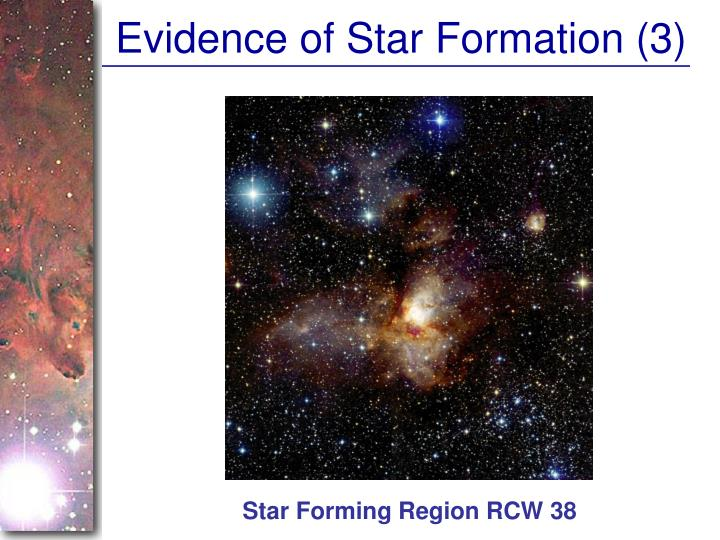 Evidence of Star Formation (3)