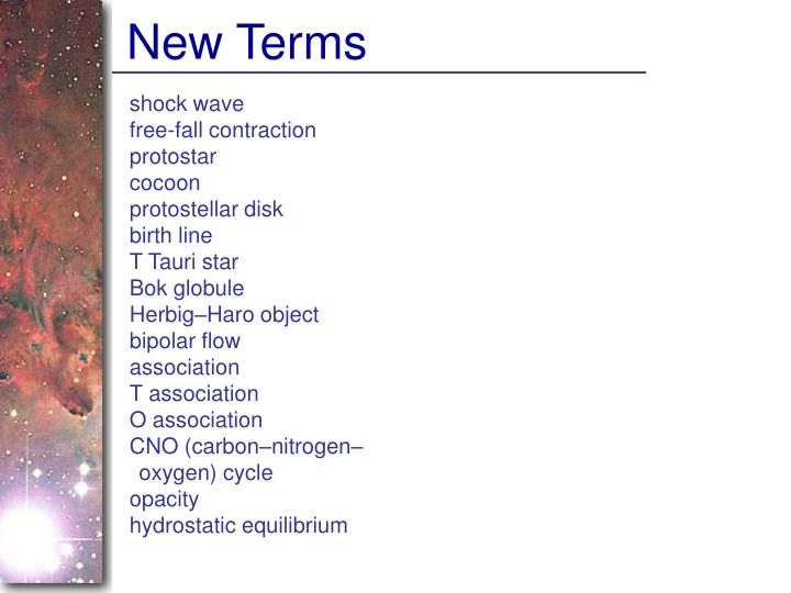 New Terms