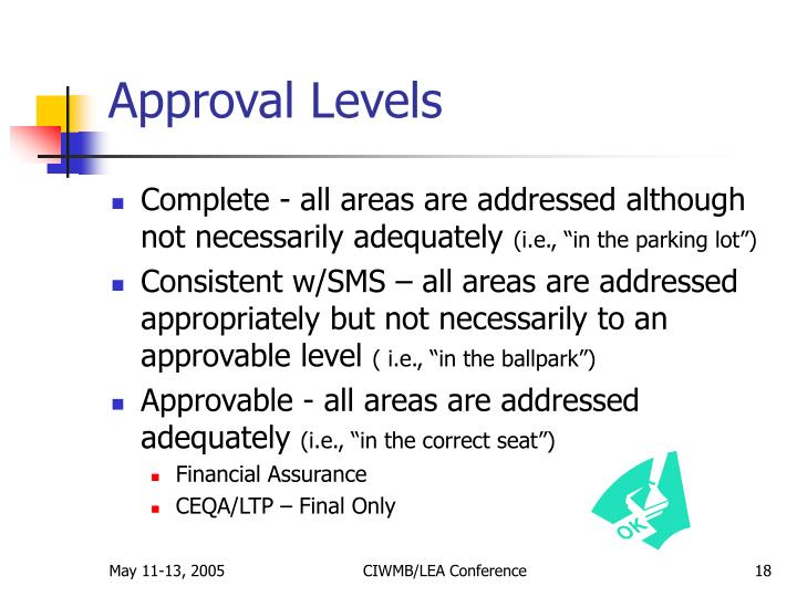 Approval Levels