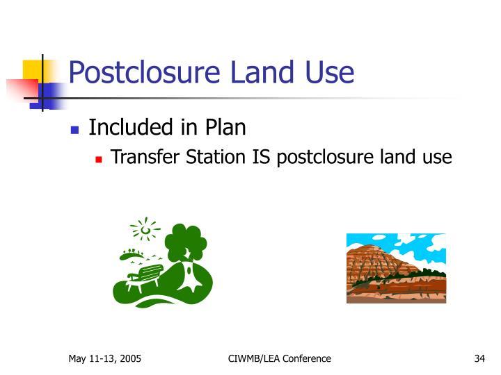 Postclosure Land Use