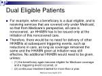 dual eligible patients