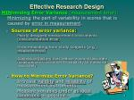 effective research design2