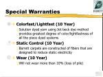 special warranties