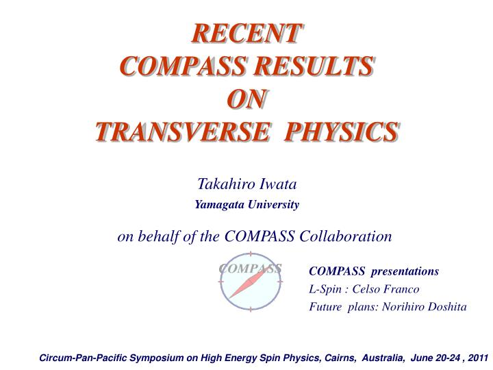recent compass results on transverse physics n.