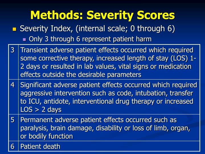 Methods: Severity Scores