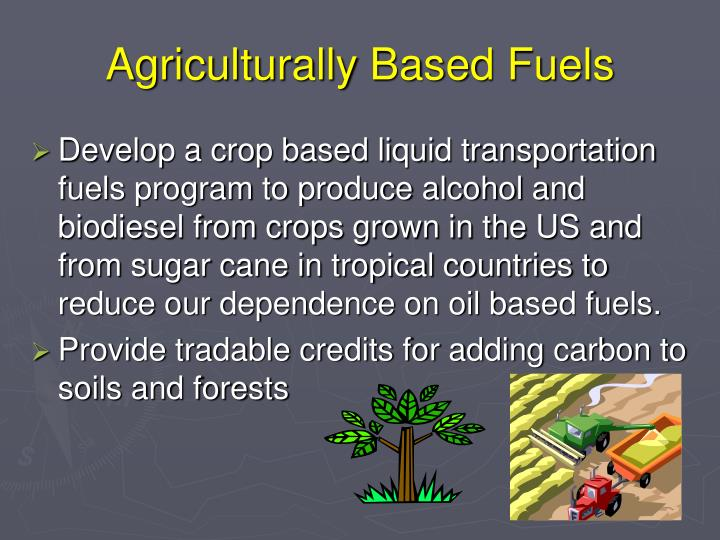 Agriculturally Based Fuels