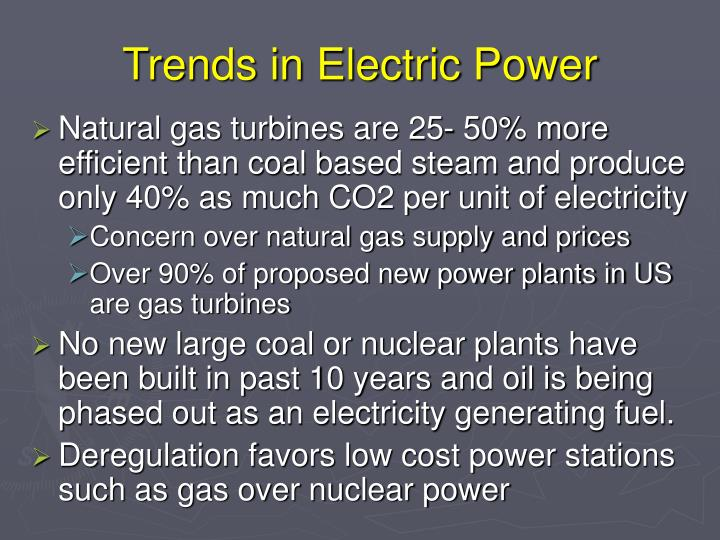 Trends in Electric Power