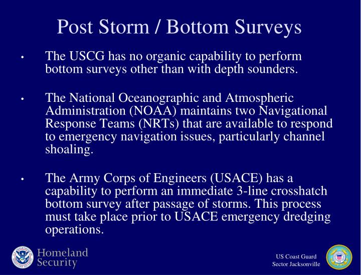 Post Storm / Bottom Surveys