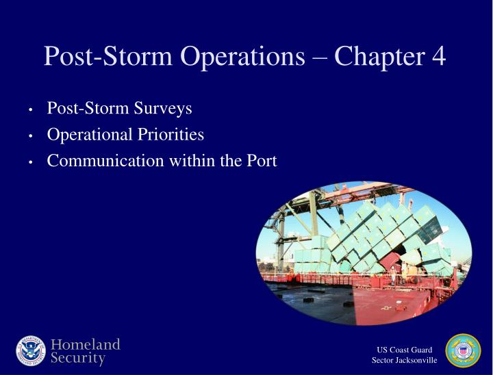 Post-Storm Operations – Chapter 4