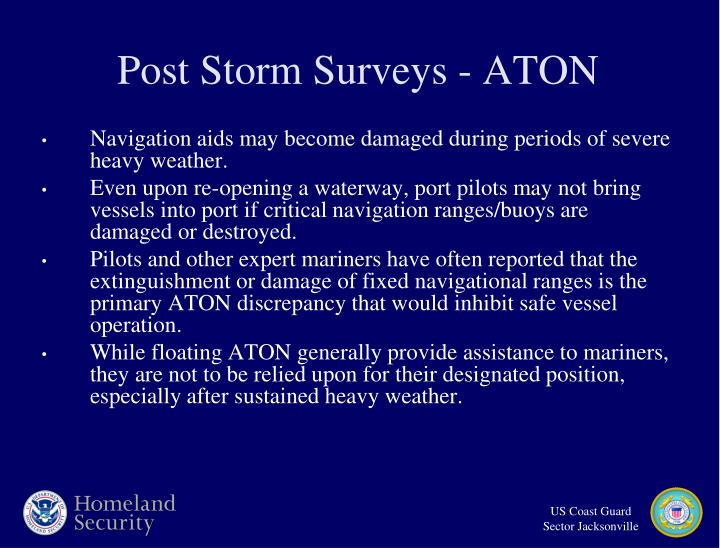 Post Storm Surveys - ATON