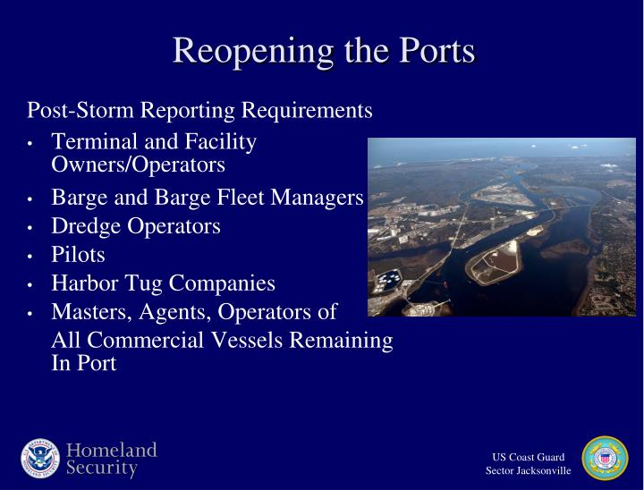 Post-Storm Reporting Requirements
