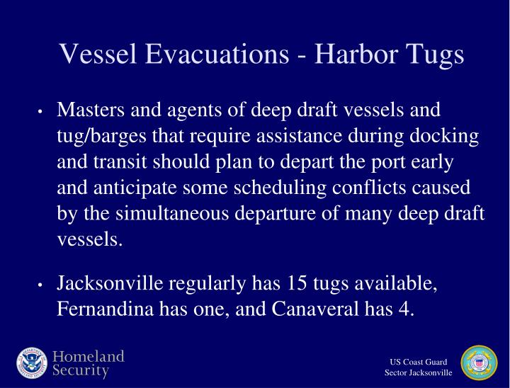Vessel Evacuations - Harbor Tugs
