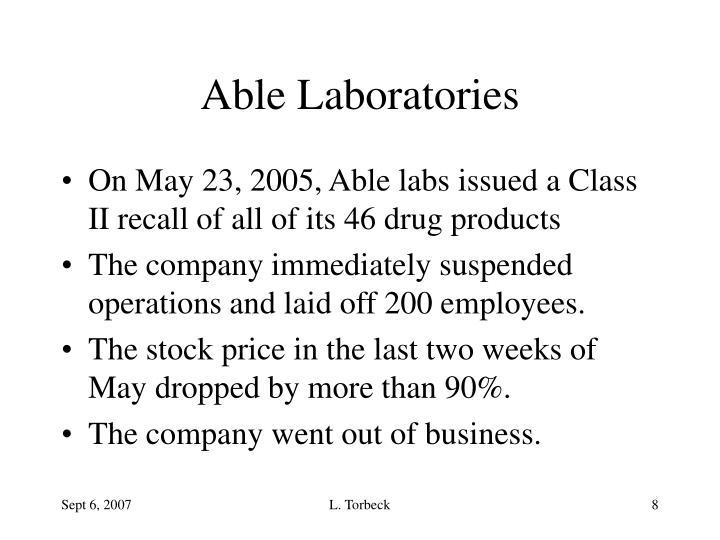 Able Laboratories