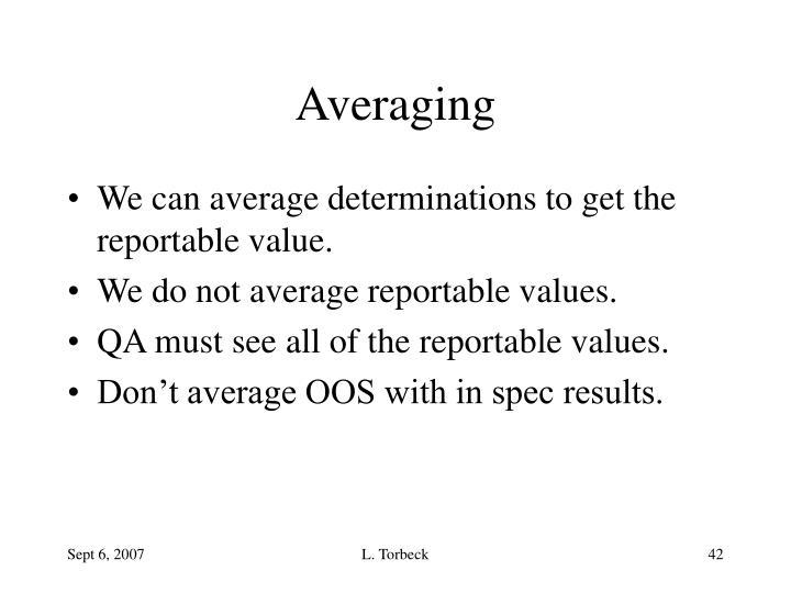 Averaging