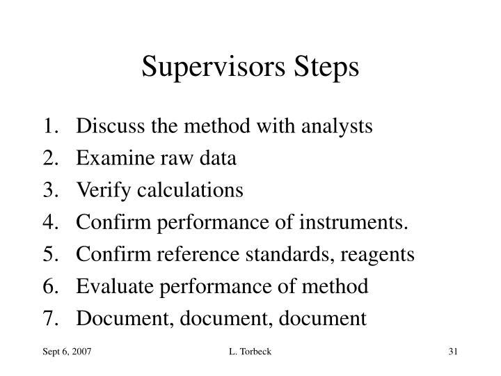 Supervisors Steps