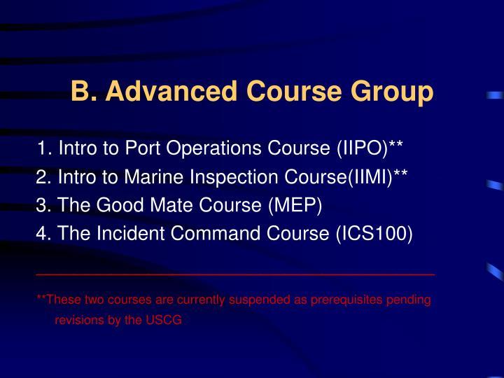 B. Advanced Course Group