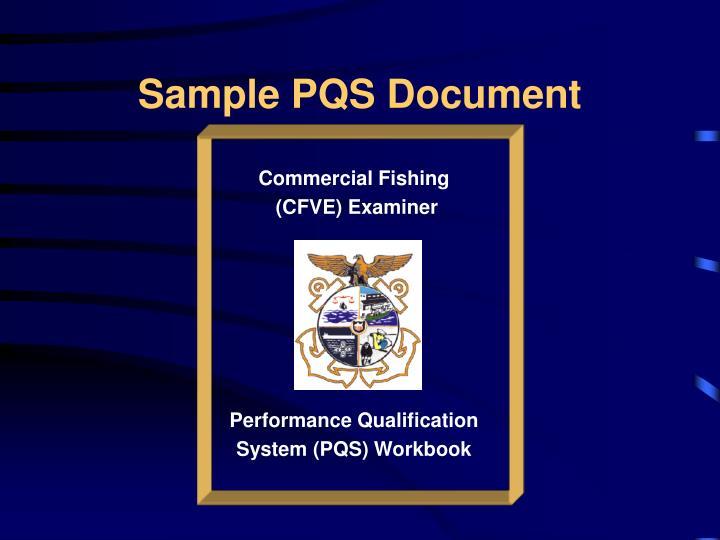 Sample PQS Document