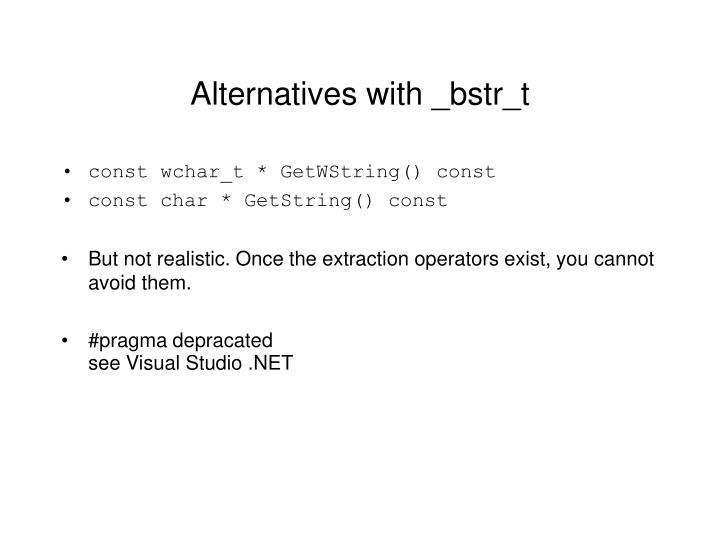 Alternatives with _bstr_t