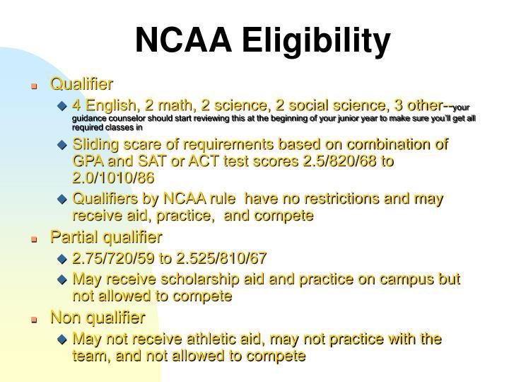 NCAA Eligibility