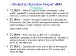 individualized education program iep timeline