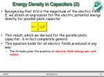 energy density in capacitors 2