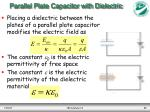 parallel plate capacitor with dielectric