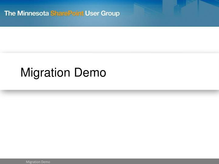 Migration Demo