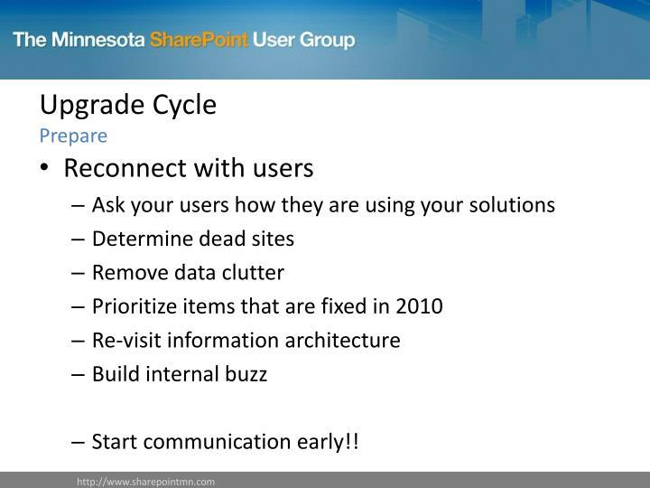 Upgrade Cycle