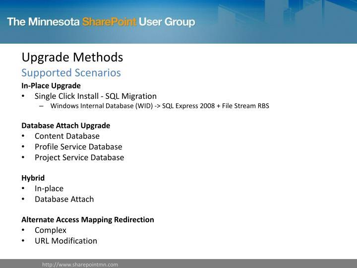 Upgrade Methods