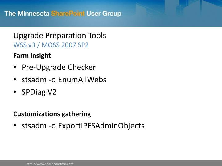 Upgrade Preparation Tools