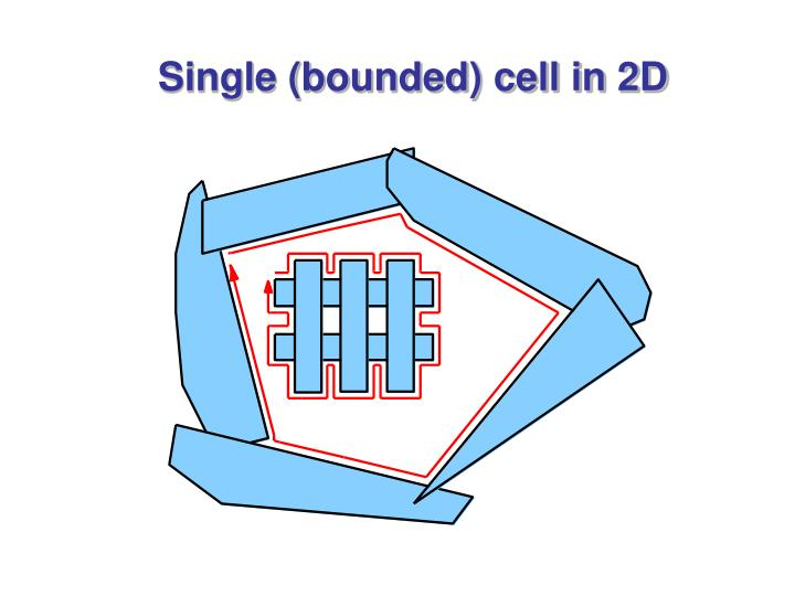 Single (bounded) cell in 2D