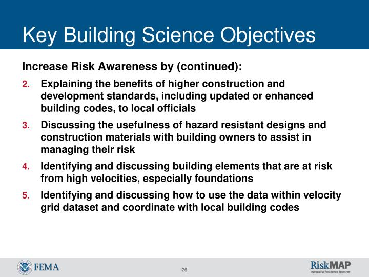 Key Building Science Objectives