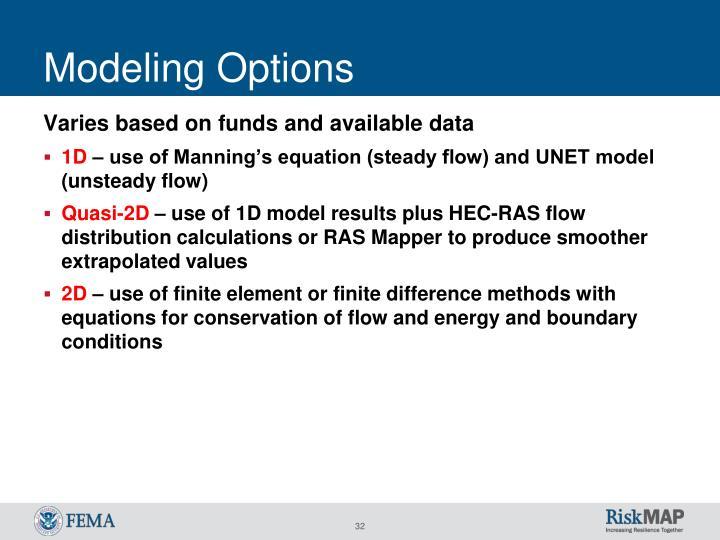 Modeling Options