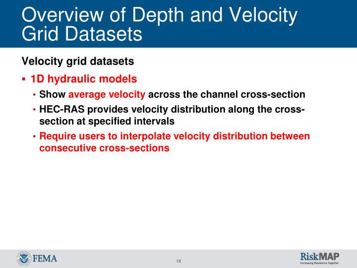Overview of Depth and Velocity Grid Datasets