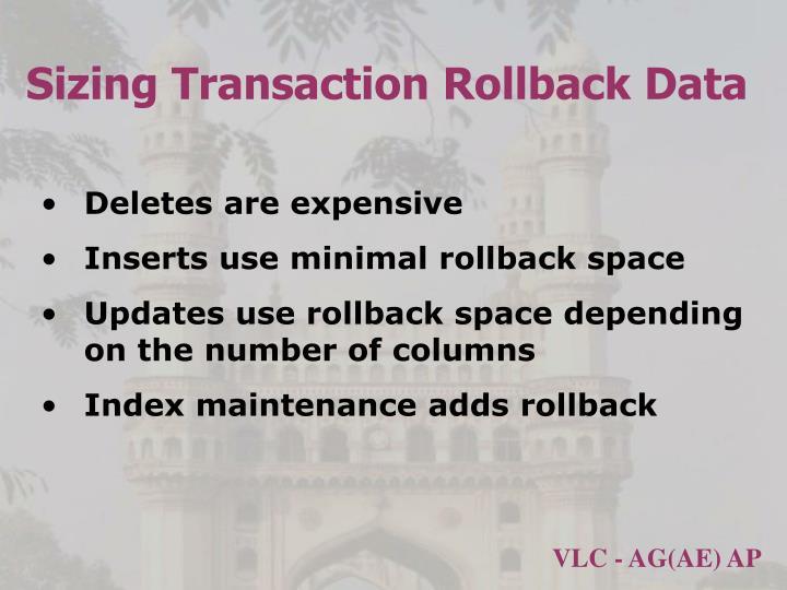 Sizing Transaction Rollback Data