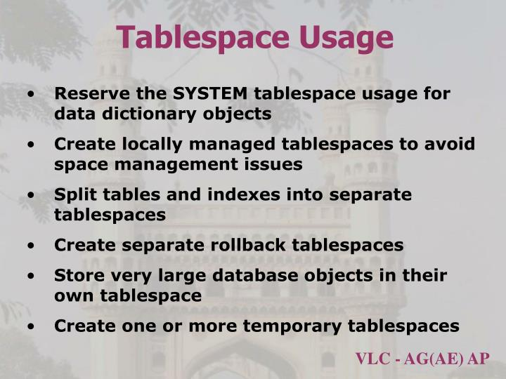 Tablespace Usage