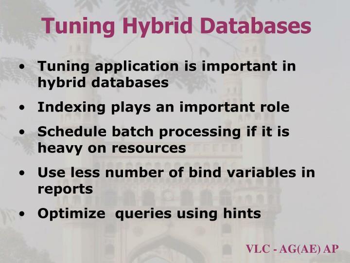 Tuning Hybrid Databases