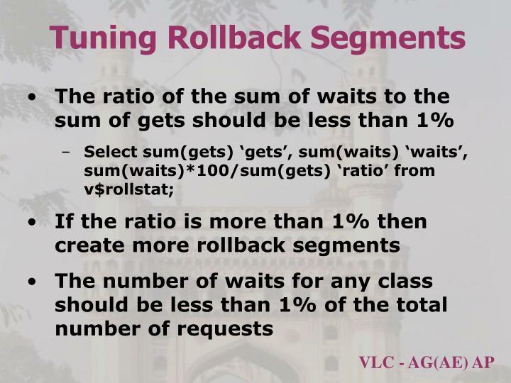 Tuning Rollback Segments