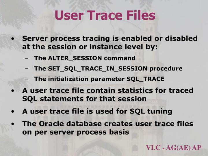 User Trace Files