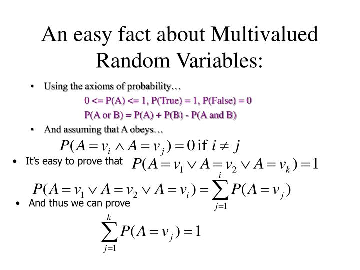 An easy fact about Multivalued Random Variables: