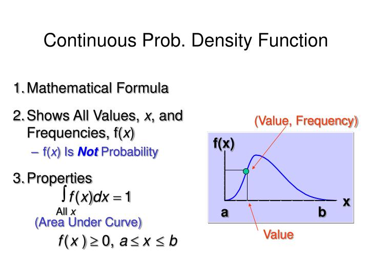 Continuous Prob. Density Function