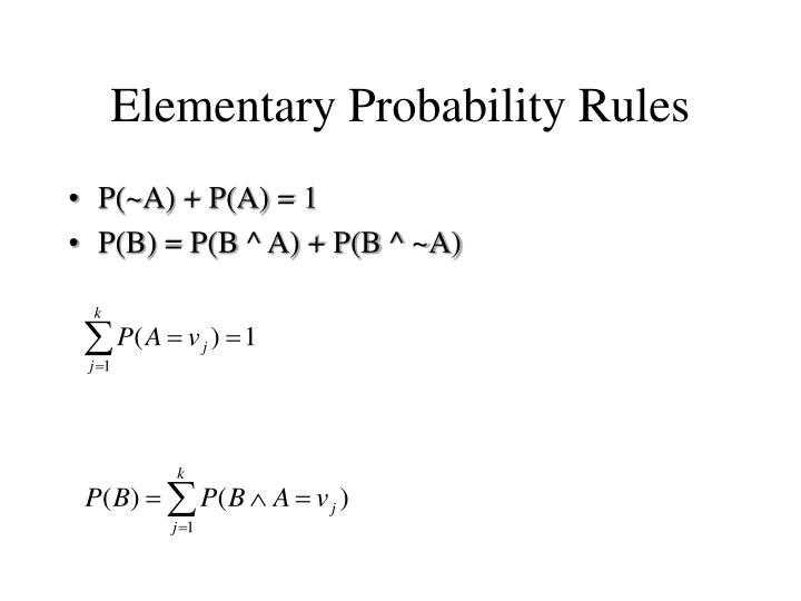 Elementary Probability Rules