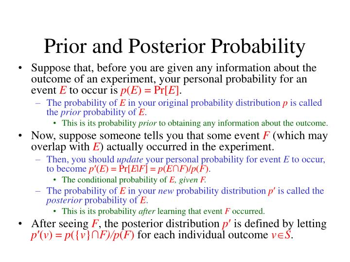 Prior and Posterior Probability