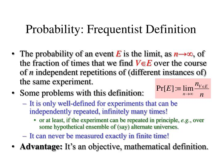 Probability: Frequentist Definition